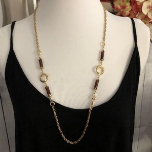 Sara Coventry Gold Tone Chain Link Necklace *L1K*